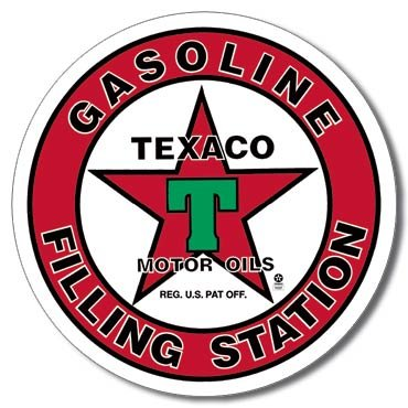 TEXACO FILLING STATION TIN SIGN METAL ADV SIGNS T
