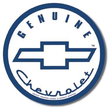GENUINE CHEVROLET TIN SIGN METAL ADV SIGNS C