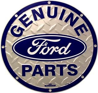 GENUINE FORD PARTS TIN SIGN