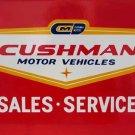 CUSHMAN MOTOR VEHICLES SALES SERVICE SIGN C