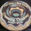 1 EXTRA LARGE DREAMY CREAMY DONUT SHOP PIC TIN SIGN METAL AD SIGNS