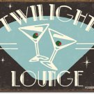 TWILIGHT LOUNGE TIN SIGN RETRO METAL ADV SIGNS I