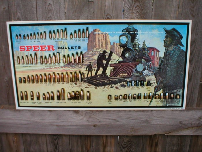 SPEER BULLETS RAILROAD TIN SIGN COLLECTOR AMMUNITION ADV SIGNS