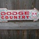 DODGE COUNTRY ARROW  SIGN RETRO METAL ADV SIGNS F