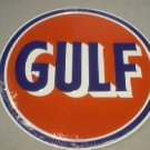 GULF TIN SIGN METAL ADV GASOLINE SIGNS G