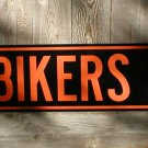 BIKERS BLVD. SIGN RETRO MOTORCYCLE ADV SIGNS B