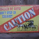 CAUTION TIN SIGN METAL RETRO ADV SIGNS M
