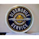 ROUND OLDSMOBILE SERVICE TIN SIGN RETRO ADV SIGNS