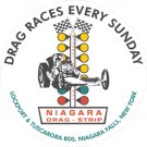 NIAGARA DRAG RACES SIGN METAL ADV RETRO NEW YORK SIGNS T