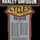 HARLEY DAVIDSON TRADE MARK PATENTS SIGN METAL ADV SIGNS H