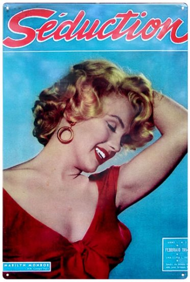 MARILYN MONROE SEDUCTION TIN SIGN METAL ADV SIGNS H