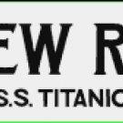 SCREW ROOM S.S. TITANTIC SIGN PORCELAIN COAT ADV RETRO SIGNS G