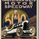 INDIANAPOLIS MOTOR SPEEDWAY 500 RETRO METAL SIGN