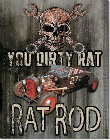 RAT ROD TIN SIGN RETRO METAL ADV SIGNS