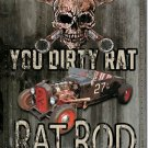 RAT ROD TIN SIGN RETRO METAL ADV SIGNS