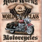 ROAD WORKS MOTORCYCLES TIN SIGN RETRO METAL ADV SIGNS