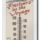 WE-NO-NAH THERMOMETER SIGN METAL ADV SIGNS H