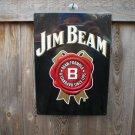 JIM BEAM TIN SIGN METAL ADV SIGNS B