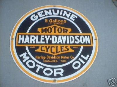 HARLEY DAVIDSON MOTOR OIL SIGN