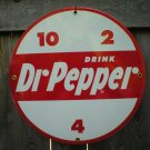 DR PEPPER PORCELAIN COATED RETRO SIGN