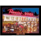 ROSIE'S DINER LIVE TO RIDE TIN SIGN