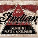 INDIAN MOTORCYCLE PARTS 1901 TIN SIGN