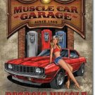 MUSCLE CAR GARAGE RETRO TIN SIGN