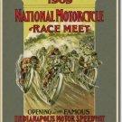1909 MOTORCYCLE RACE MEET TIN SIGN