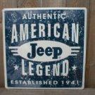 JEEP AMERICAN LEGEND 1941 TIN SIGN