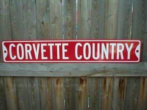 CORVETTE HEAVY STEEL SIGN