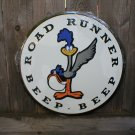 ROAD RUNNER ROUND TIN SIGN