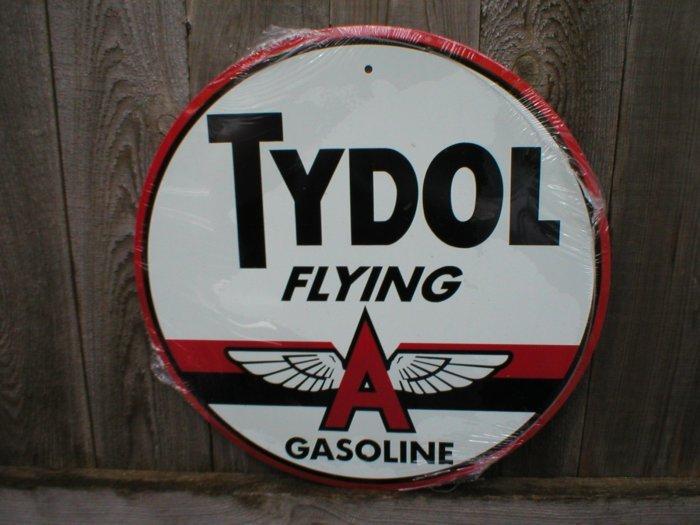 TYDOL FLYING A GASOLINE TIN SIGN