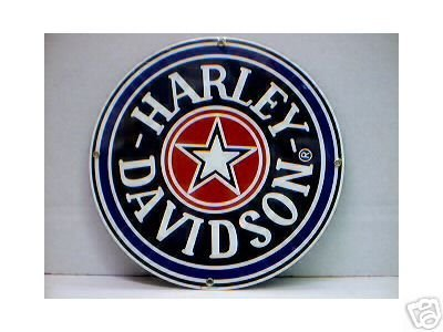 HARLEY DAVIDSON FATBOY PORCELAIN COATED SIGN