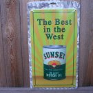 SUNSET MOTOR OIL TIN METAL SIGN