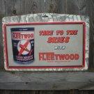 FLEETWOOD MOTOR OIL TIN METAL SIGN