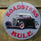 ROADSTERS RULE METAL FORD SIGN