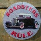 ROADSTERS RULE METAL FORD SIGN
