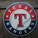 TEXAS RANGERS BASEBALL METAL SIGN
