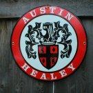 AUSTIN HEALEY PORCELAIN COATED SIGN