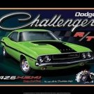 DODGE CHALLENGER MUSCLE CAR METAL TIN SIGN