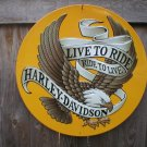HARLEY DAVIDSON METAL TIN SIGN