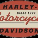 HARLEY DAVIDSON MOTORCYCLE OVAL SIGN