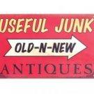 USEFUL JUNK METAL TIN SIGN