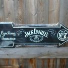 JACK DANIEL'S ARROW METAL TIN SIGN