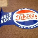 PEPSI COLA FLANGE RETRO TIN SIGN
