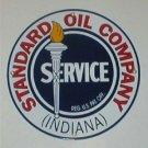 STANDARD OIL SERVICE PORCELAIN COAT SIGN