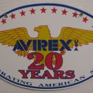 AVIREX PORCELAIN-COATED OVAL SIGN