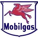 MOBILGAS PEGASUS SHIELD STEEL SIGN GAS FILLING STATION DECOR