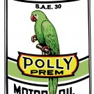 POLLY GAS PREMIUM METAL OIL CAN SIGN