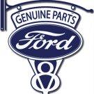 FORD V-8 GENUINE PARTS BRACKET SIGN